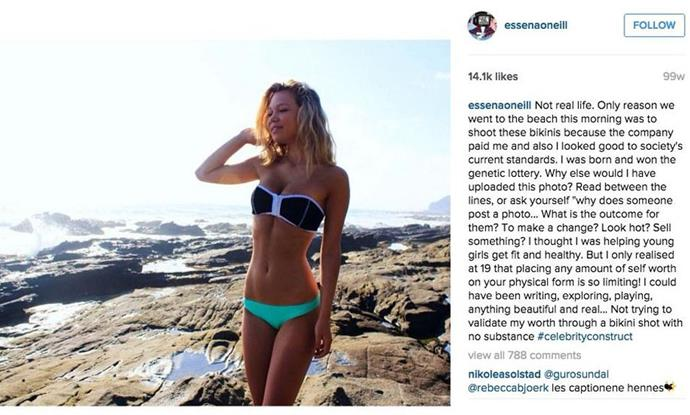 "**Essena O'Neill** <br><br> In 2015, Australian influencer Essena O'Neill made headlines when she switched the captions of her Instagram posts to disclose the depression and insecurity she experienced as a result of social media. <br><br> After re-naming her Instagram account 'Social Media is Not Real', the then-19-year-old deleted her social media accounts (imploring fans to do the same), and asked for donations so she could produce content on a separate website. Despite an influx of donations from fans, however, O'Neill disappeared from the Internet and never posted on the site, prompting confusion and backlash from donors. <br><br> In November 2019, O'Neill appeared online for the first time in four years, in an interview with YouTuber [Tiffany Ferguson](https://www.youtube.com/watch?v=Ce5kkO_urHE|target=""_blank""