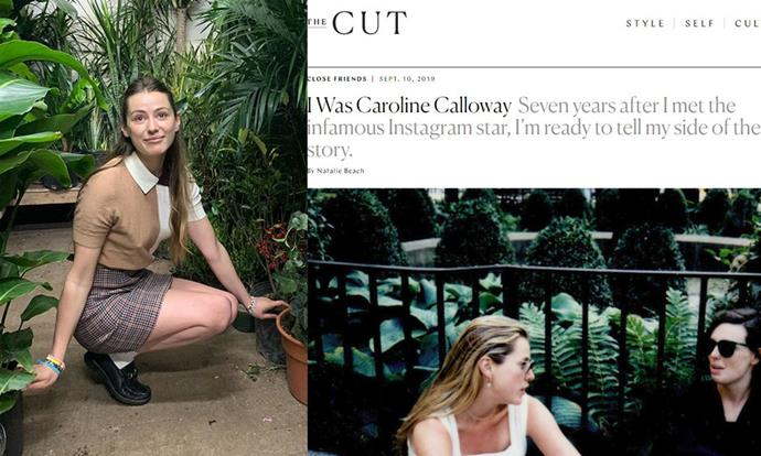 "**Caroline Calloway** <br><br> In September 2019, writer Natalie Beach wrote an article for *[The Cut](https://www.thecut.com/2019/09/the-story-of-caroline-calloway-and-her-ghostwriter-natalie.html|target=""_blank""