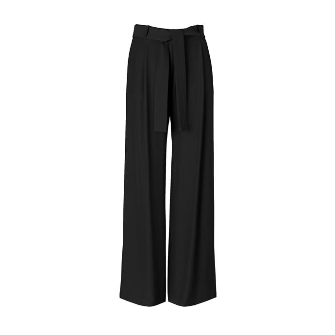 "THE BLACK PANTS: Black trousers, $300 from [Viktoria + Woods](https://viktoriaandwoods.com.au/collections/pants/products/mega-wide-leg-pant-1|target=""_blank""