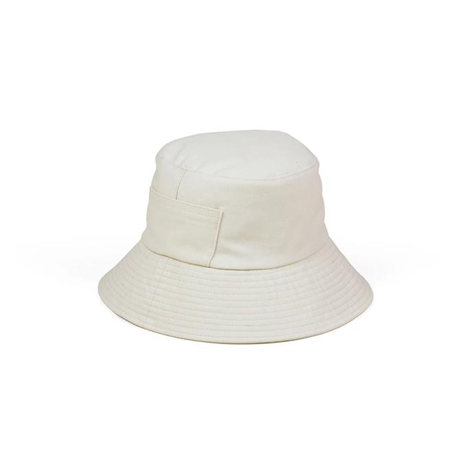 """Hat, $89 by [Lack of Color](https://www.lackofcolor.com.au/products/wave-bucket-hat-beige
