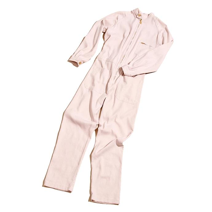 """Boilersuit, $650 by [Lucy Folk](https://lucyfolk.com/products/beachside-boiler-suit-pharaoh