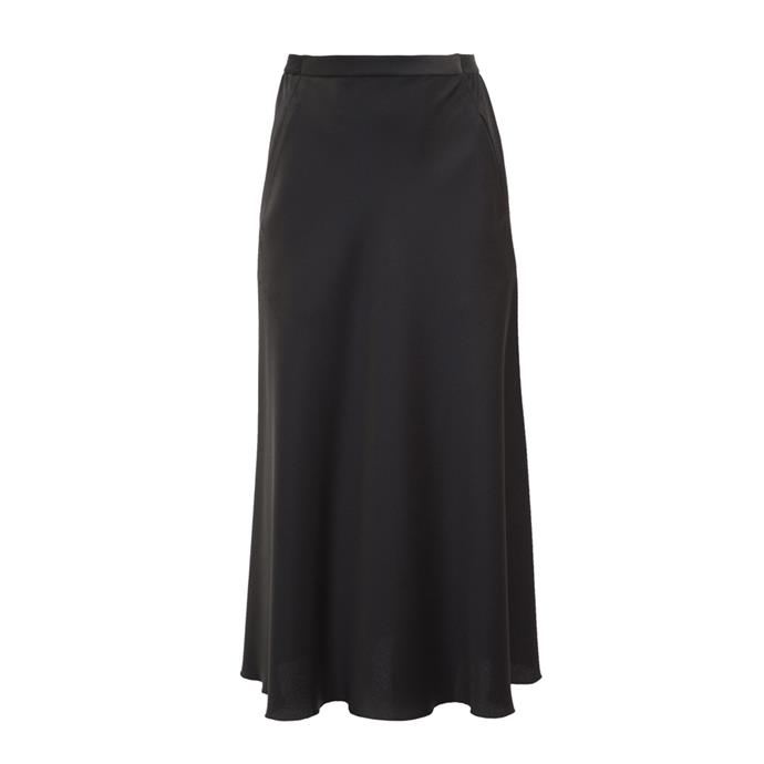 """Slip skirt by Christopher Esber, $450 at [The Undone](https://www.theundone.com/collections/skirts/products/christopher-esber-bias-satin-skirt