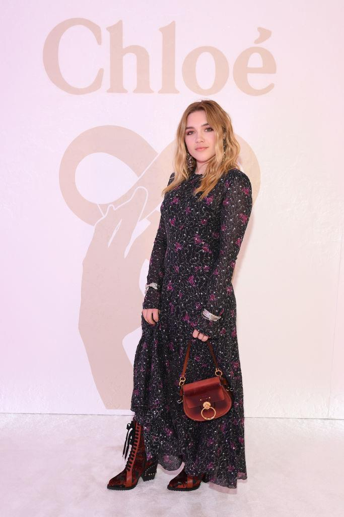 In Chloé at the brand's autumn/winter '19 show in February 2019. <br><br> *Image: Getty*
