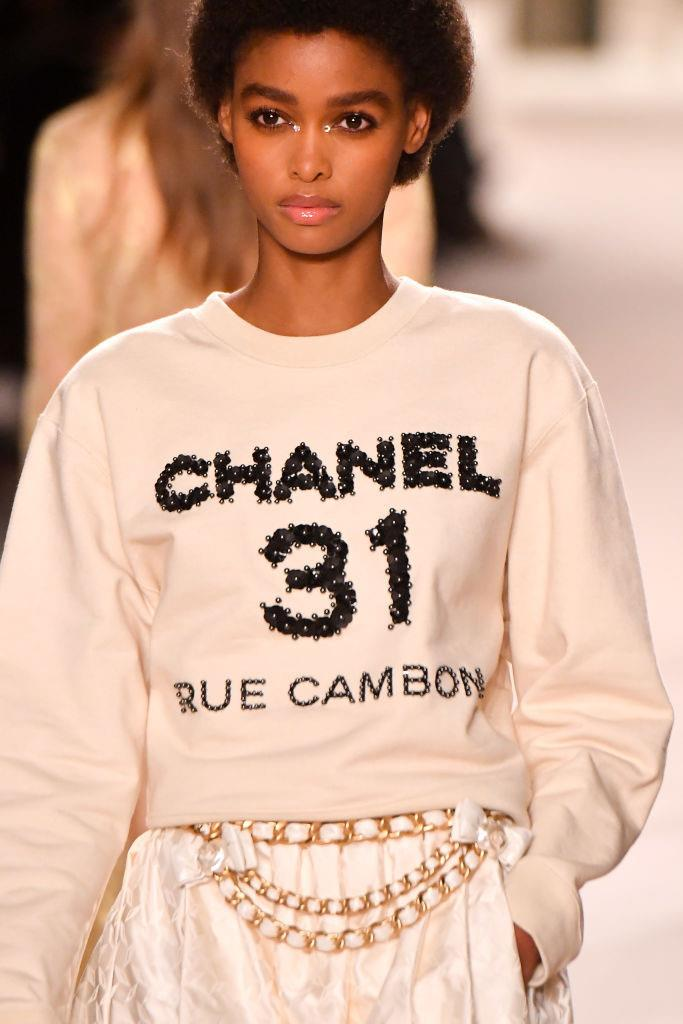 """**A logo-adorned Chanel sweater:** If Blair Waldorf ever considered going near a sweatshirt, she'd have multiple of these in her wardrobe before you could utter the word """"Dorota""""."""