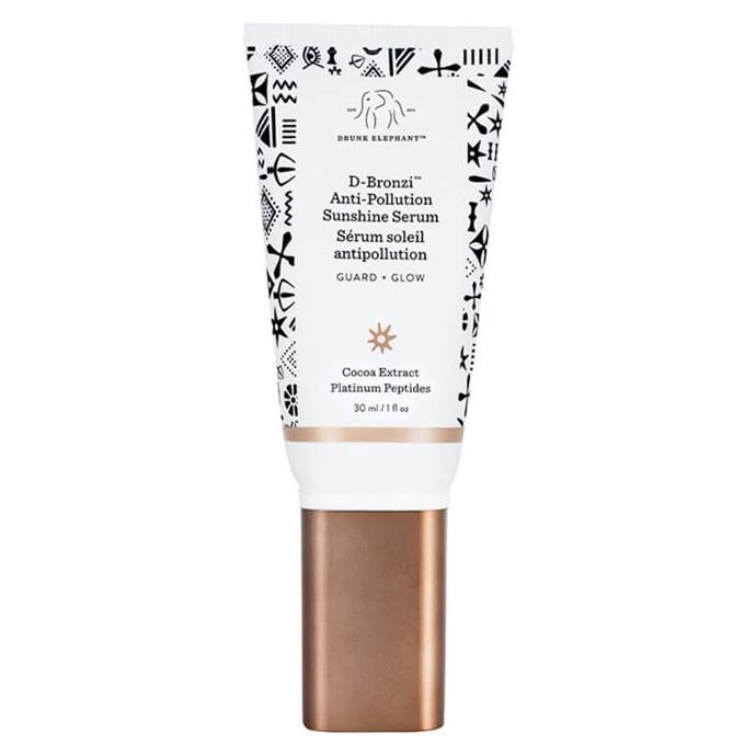 "D-Bronzi™ Anti-Pollution Sunshine Drops by Drunk Elephant, $55 from [MECCA](https://www.mecca.com.au/drunk-elephant/d-bronzi-anti-pollution-sunshine-drops/I-033950.html?cgpath=makeup-complexion-bronzer|target=""_blank""