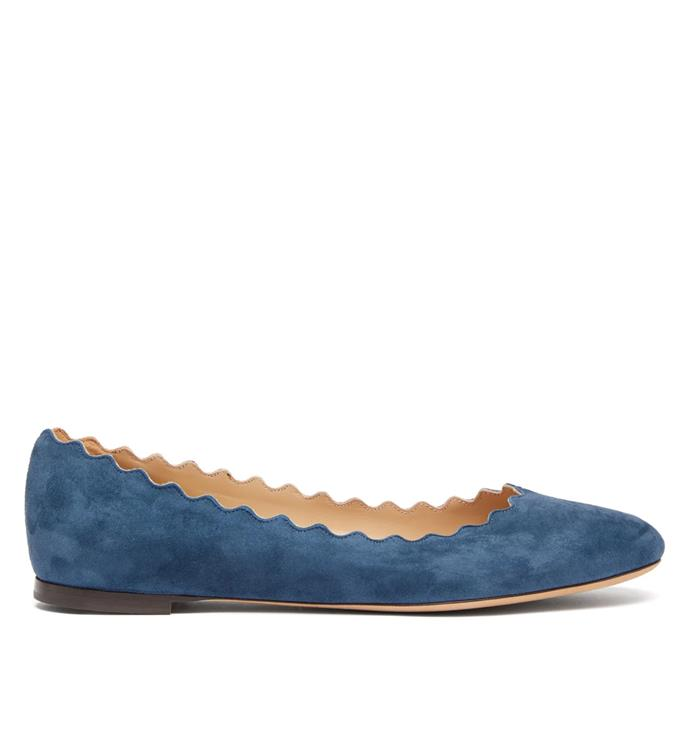 "Chloé Lauren scallop-edge leather ballet flats, $374 from [MATCHESFASHION.COM](https://www.matchesfashion.com/au/products/1281850|target=""_blank""