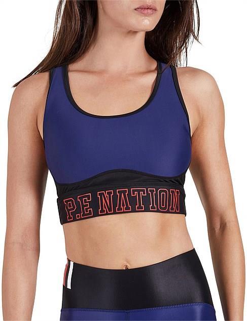 "P.E Nation Discus sports bra, $49 at [David Jones](https://www.davidjones.com/brand/pe-nation/22324860/Discus-Sports-Bra.html|target=""_blank""|rel=""nofollow"")."