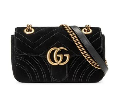 "*'Marmont' velvet mini bag by Gucci, $2,090 at [Farfetch](https://fave.co/2Pi2DNl|target=""_blank""