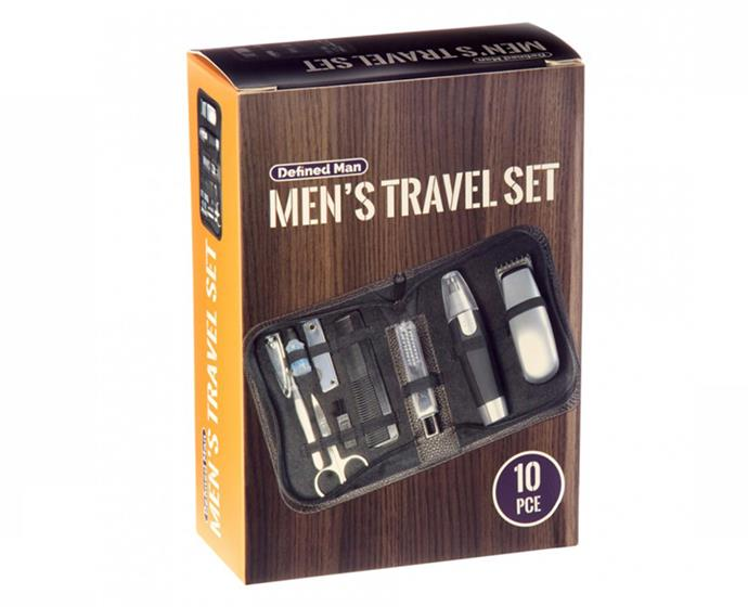 "**Men's Travel Set by Defined Man, $30 at [Priceline](https://www.priceline.com.au/defined-man-men-s-travel-set-1-kit|target=""_blank""