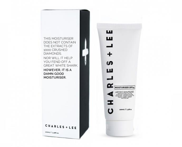 "**Moisturiser SPF15 by Charles + Lee, $18.95 at [Priceline](https://www.priceline.com.au/charles-lee-moisturiser-spf15-100-ml|target=""_blank""