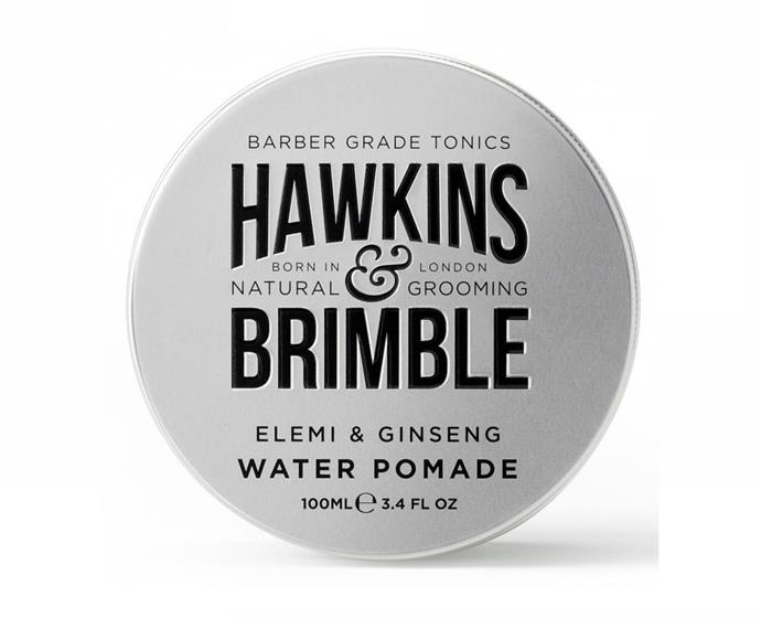 "**Water Pomade by Hawkins & Brimble, $19.99 at [Priceline](https://www.priceline.com.au/mens/mens-hair-care/hawkins-brimble-water-pomade-100-ml|target=""_blank""