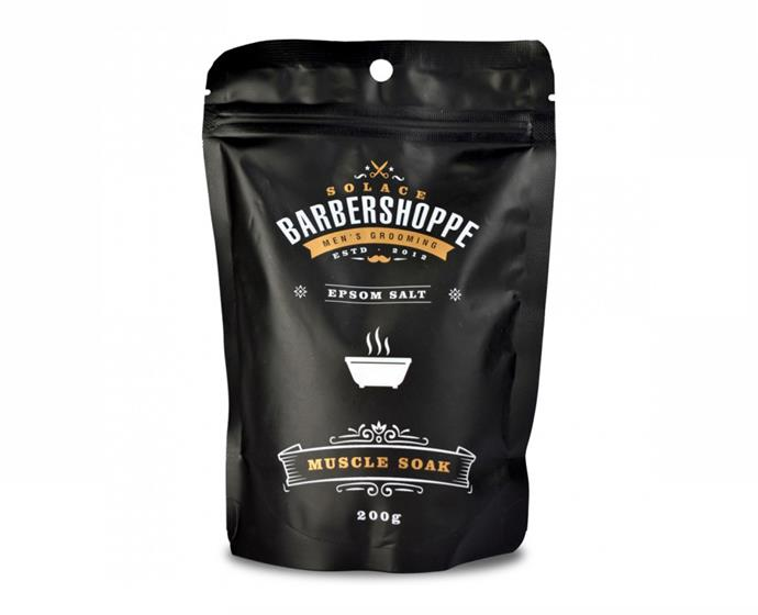 "**Muscle Soak by Barber Shoppe, $3.99 at [Priceline](https://www.priceline.com.au/mens/mens-toiletries/barber-shoppe-muscle-soak-200-g|target=""_blank""