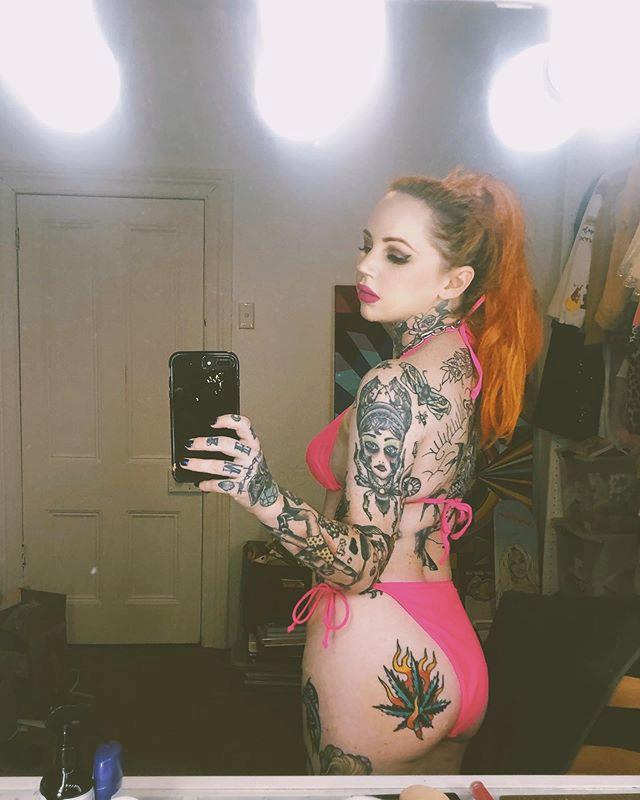 """**If you thought something was 'tacky', it's probably cool now** <br><br> When asked if any tattoos were on the way out for 2020, Winzer said no such thing was happening—and if anything, tattoos once regarded as 'tacky' are on their way to being on-trend. <br><br> """"I don't think anything's disappearing, because I think certain people are getting different types of tattoos that they're still gonna carry on. Nothing's really getting left behind,"""" Winzer explained. <br><br> """"And all the old s--t—like 'Ew, I got a tramp stamp'—that's back! Like, barbed wire is back, tramp stamps are back, all of the '80s stuff is back, and everyone thought that was gross, but everything is cool now, which I like."""" <br><br> *Image: Instagram [@laurenwinzer](https://www.instagram.com/p/B3nASwVhMJk/