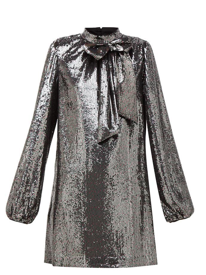 "Bow-appliqué mini dress by No. 21, $1,267 at [MATCHESFASHION](https://fave.co/2LGA0sj|target=""_blank""|rel=""nofollow"")"