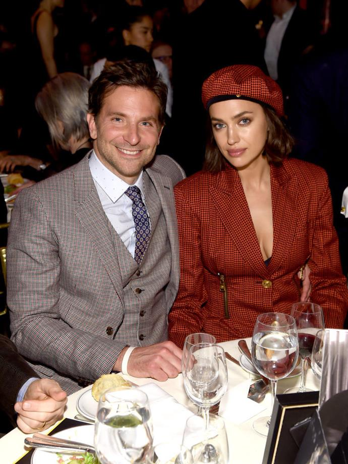 **Irina Shayk and Bradley Cooper** <br><br> Cooper and his model partner, Irina Shayk, reportedly split in June 2019, four months after the release of Cooper's acclaimed film, *A Star Is Born*. The couple now share custody of their daughter, Lea De Seine, who was born in March 2017.