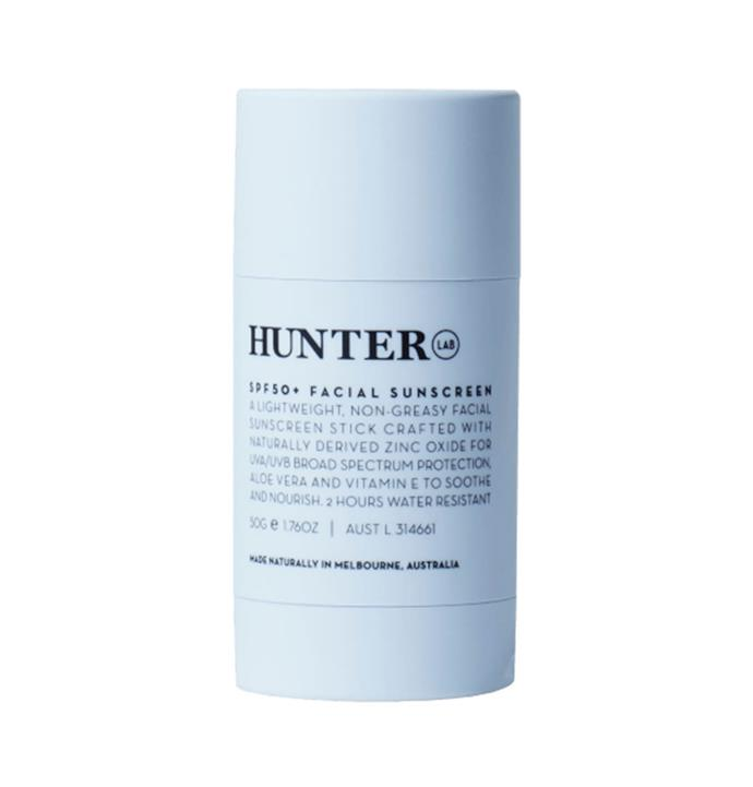 "**SPF 50+ Facial Sunscreen 50g by Hunter Lab, $48 at [Adore Beauty](https://www.adorebeauty.com.au/hunter-lab/hunter-lab-spf-50-facial-sunscreen-50g.html|target=""_blank""