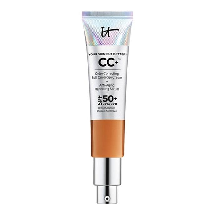 "**Your Skin But Better™ CC+™ Cream SPF 50 32ml by It Cosmetics, $61 at [Sephora](https://www.sephora.com.au/products/it-cosmetics-your-skin-but-better-cc-plus-cream-spf-50/v/fair|target=""_blank""