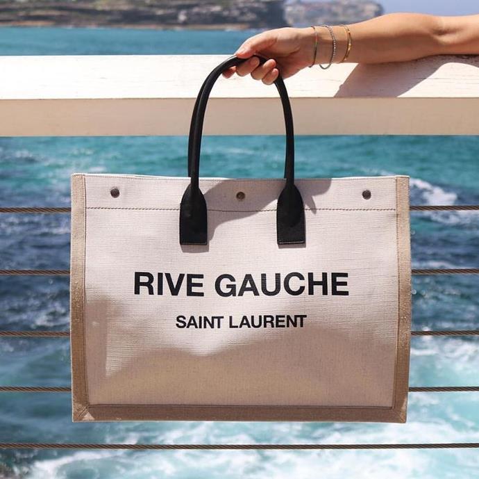 "**Saint Laurent** <br><br> High-fashion designs with a practical twist. <br><br> *[Shop them here.](https://www.net-a-porter.com/au/en/product/1210690?gclsrc=aw.ds&cm_mmc=Google-ProductSearch-AU--c-_-NAP_EN_AU_PLA-_-NAP+-+AU+-+GS+-+Designer+-+Class_Bags+-+Type_Tote+Bags%C2%A0-%C2%A0High%C2%A0-%C2%A0BT--Tote+Bags+-+Shopper-_-__aud-295606855099:pla-475543858258_APAC&gclid=CjwKCAiAxMLvBRBNEiwAKhr-nELgZkXl1w8bu8snIyC5niJrMuTwXkLtWWjqMTcB-apgt1DfmltY4xoChUsQAvD_BwE&gclsrc=aw.ds|target=""_blank""|rel=""nofollow"")*"
