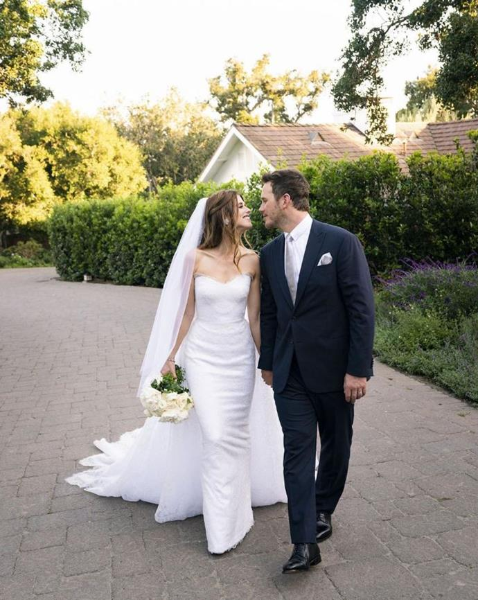 """**6. Katherine Schwarzenegger and Chris Pratt** <br><br> We may have been devastated when Chris Pratt and ex-wife Anna Faris announced their split, but our hearts were healed when Pratt found love again (as did Faris) with Katherine Schwarzenegger. The Christian pair married in a super-traditional ceremony in Montecito, California, and the world swooned over their [stunning wedding photos](https://www.elle.com.au/celebrity/chris-pratt-katherine-schwarzenegger-married-20668