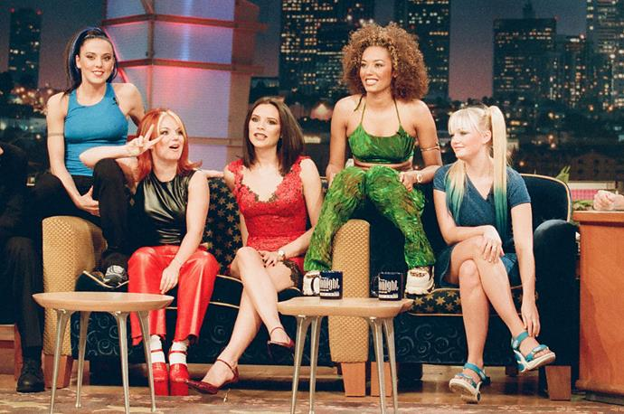 The Spice Girls on *The Tonight Show with Jay Leno* in December 1997.
