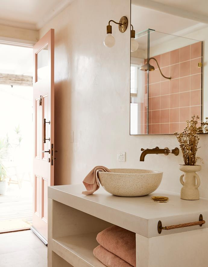 Splashes of dusty pinks and peaches were a must for Pennefather.