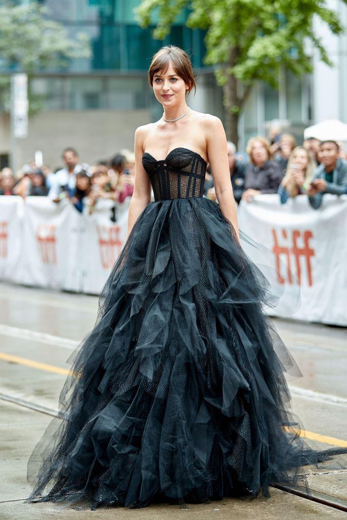 Johnson in Dior at the Toronto International Film Festival on September 3, 2019.