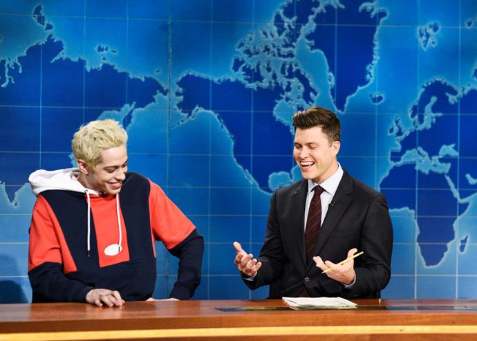 Davidson and Colin Jost on a September 2019 episode of Saturday Night Live.