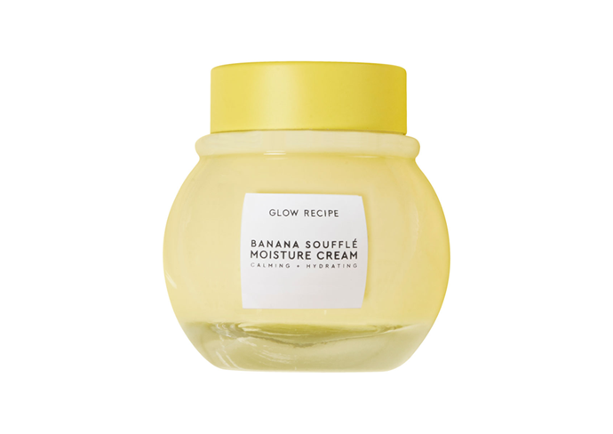 "**Banana Soufflé Moisture Cream by Glow Recipe, $60 at [MECCA](https://www.mecca.com.au/|target=""_blank"") (launching January 29)**<br><br/> Glow Recipe fans rejoice; Banana Soufflé *is* coming to Australia. They've rallied the skin soothing dream team: potassium-rich banana, barrier-repairing jojoba seed oil and irritation-calming turmeric. Don't be fooled by the lush light-as-air texture either; this stuff came to *hydrate*."