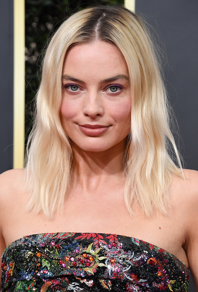 **Margot Robbie**<br> Robbie embraces a lived-in look, confirming buttery blonde doesn't *have* to be high maintenance.