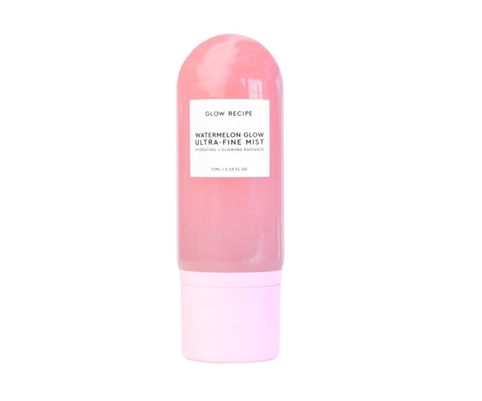 "**Watermelon Glow Ultra-Fine Mist by Glow Recipe, $43 at [MECCA](https://www.mecca.com.au/glow-recipe/watermelon-glow-ultra-fine-mist/I-039188.html|target=""_blank"")**"