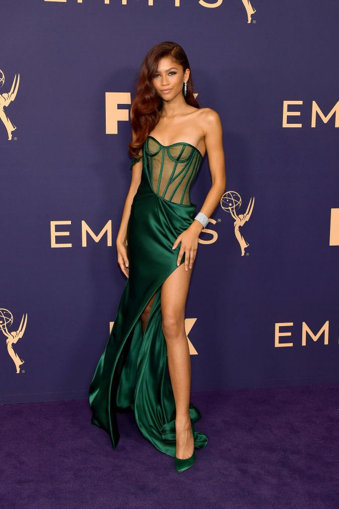 Zendaya in Vera Wang at the Emmy Awards on September 22, 2019.