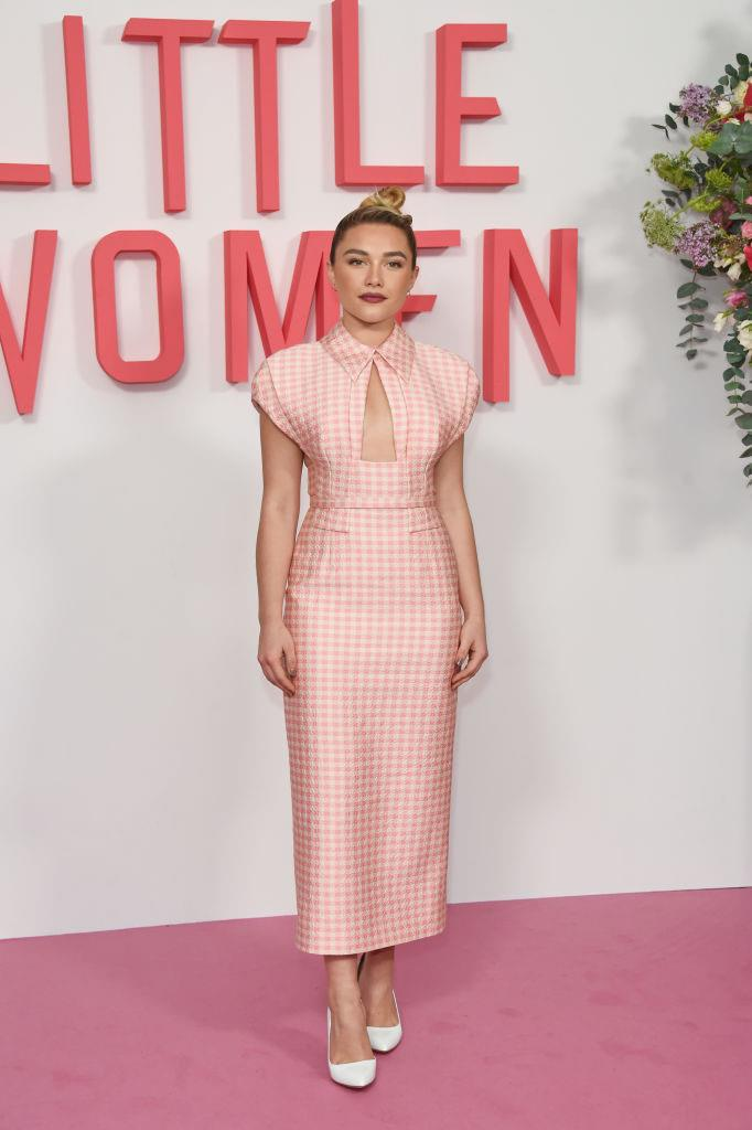 In Emilia Wickstead at a *Little Women* photocall in December 2019. <br><br> *Image: Getty*