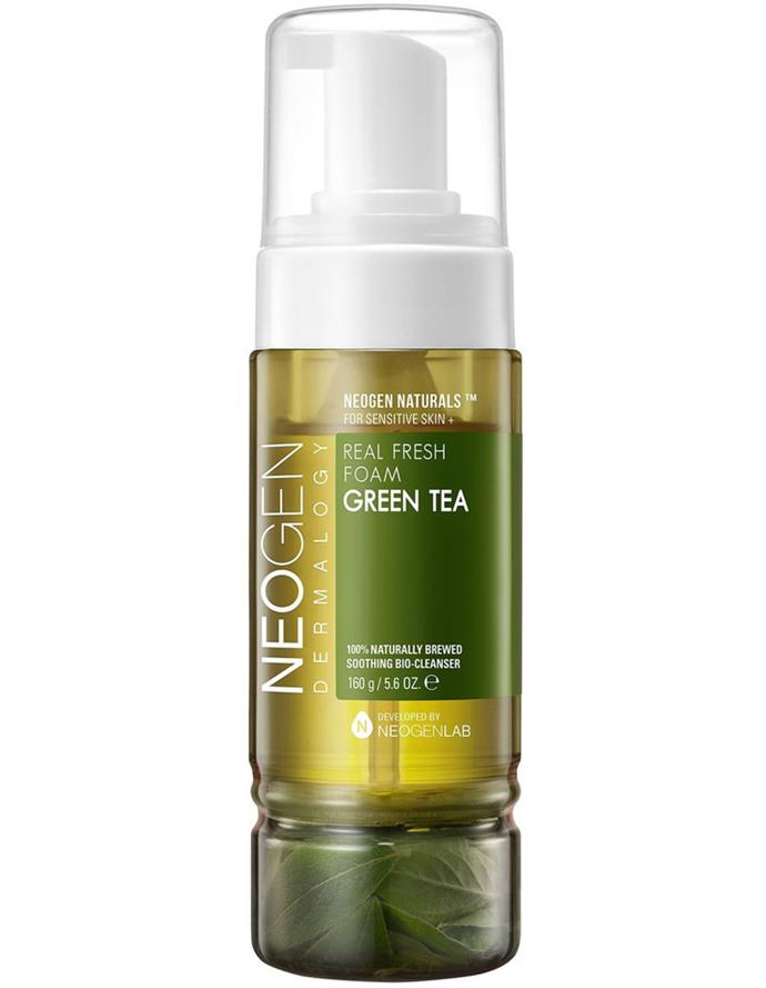 "**Green Tea Foam Cleanser by Neogen** <br> *Suitable for: Oily or combination skin types* <br><br> For anyone with oily or combination skin types, Neogen's foaming cleanser is one of your best bets—effectively casting away oiliness, without leaving your skin drier than the Sahara Desert. Per usual, the restorative power of green tea-based cleansers knows no bounds. <br><br> *$29 for 160mL, available at [Myer](https://www.myer.com.au/p/neogen-foam-gren-tea-160g|target=""_blank""
