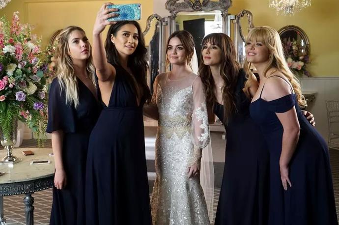 "***Pretty Little Liars***<br><br>  Finishing in 2017, fans were not, well, fans of *Pretty Little Liars*'s two-hour-long finale. Yes, it had its share of heartwarming, exciting and mildly terrifying moments, but the general consensus was that it was an absolute betrayal of an ending.<br><br>  As for why it was so bad? While there were [many things wrong with the finale](https://www.glamour.com/story/pretty-little-liars-finale-worst-moments|target=""_blank""