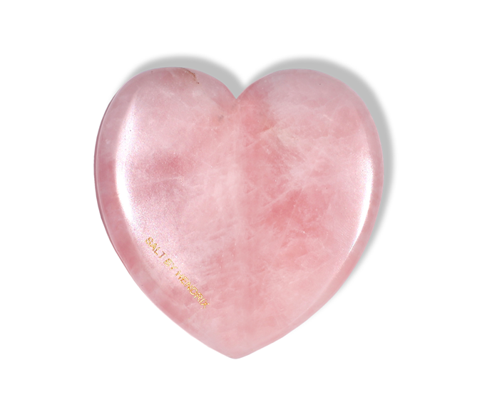 "**Love Gua Sha, $49.95 at [SALT By Hendrix](https://saltbyhendrix.com.au/products/love-gua-sha?variant=31164520333401|target=""_blank"")**<br> As the stone of unconditional love, rose quartz *belongs* in heart-shape form."