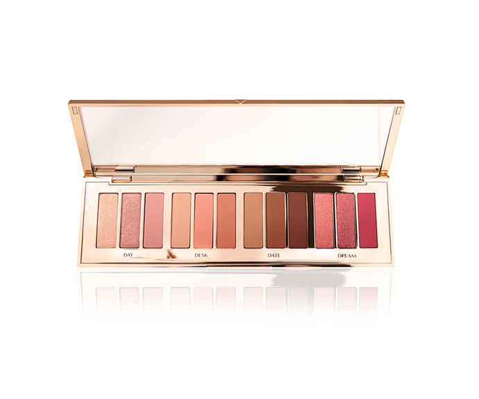 "**Instant Eye Pallete in Pillow Talk, $120 by [Charlotte Tilbury](https://www.charlottetilbury.com/au/product/instant-eyeshadow-palette-pillow-talk|target=""_blank"")**<br> Do you believe in love at first sight, or should this Pillowtalk palette walk by again?"