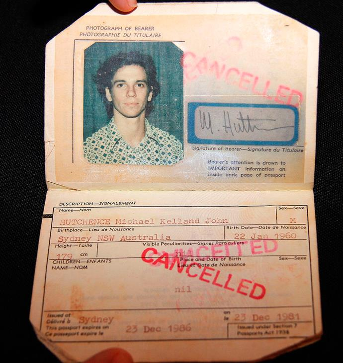 Michael Hutchence in an old passport photo.