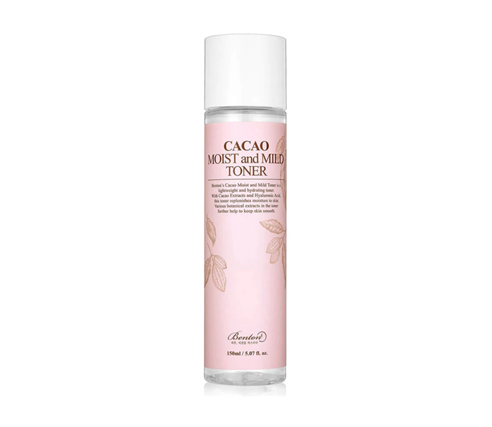 """**Cacao Moist and Mild Toner by Benton, $25 at [Nudie Glow](https://nudieglow.com/collections/toners/products/benton-cacao-moist-and-mild-toner