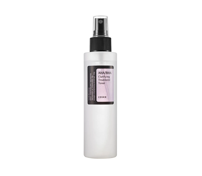 """**AHA/BHA Clarifying Treatment Toner by COSRX, $23 at [Nudie Glow](https://nudieglow.com/collections/toners/products/cosrx-aha-bha-clarifying-treatment-toner