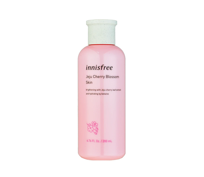 "**Jeju Cherry Blossom Skin by Innisfree, $29 at [Adore Beauty](https://www.adorebeauty.com.au/innisfree/innisfree-cherry-blossom-skin-200ml.html|target=""_blank"")**<br> A shortcut to soft, smooth and supple skin, this serum-in-toner formula balances, hydrates and strengthens skin's barrier in a single (albeit extremely effective) streamline step."