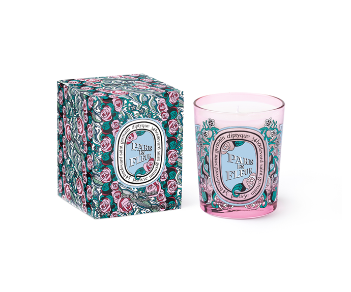 "**Paris En Fleur Candle by Diptyque, $105 at [MECCA](https://www.mecca.com.au/diptyque/paris-en-fleur-candle-190g/I-041493.html?gclid=Cj0KCQiAjfvwBRCkARIsAIqSWlPK5lYQ3TzcsjgmsI0bG6bSf4RlSYSFwnY9ut9zgO4fSicoFWQTb_oaArANEALw_wcB|target=""_blank"")**<br> A rose scent inspired by the romance of Paris, this Diptyque delight gives new meaning to burning love."