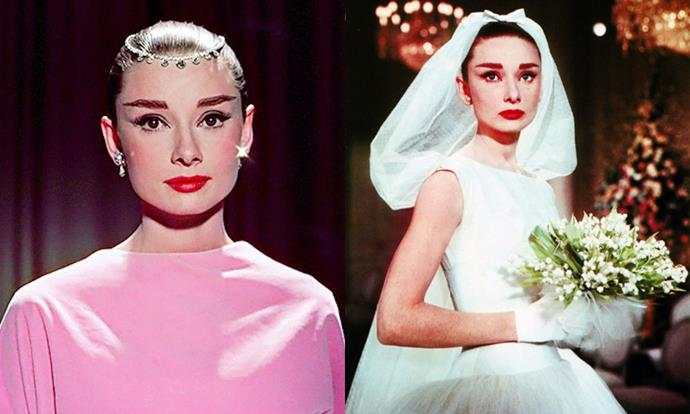 "***Funny Face* (1957)** <br><br> Audrey Hepburn's most recognisable fashion may be in *Breakfast at Tiffany's*, but arguably her best on-screen beauty moments came four years earlier, in the comedy film *Funny Face*. Aside from her famous Givenchy wedding dress, Hepburn's classic beauty looks were arguably the '60s precursor to ['rich girl' makeup](https://www.harpersbazaar.com.au/beauty/rich-girl-makeup-11804|target=""_blank"")."
