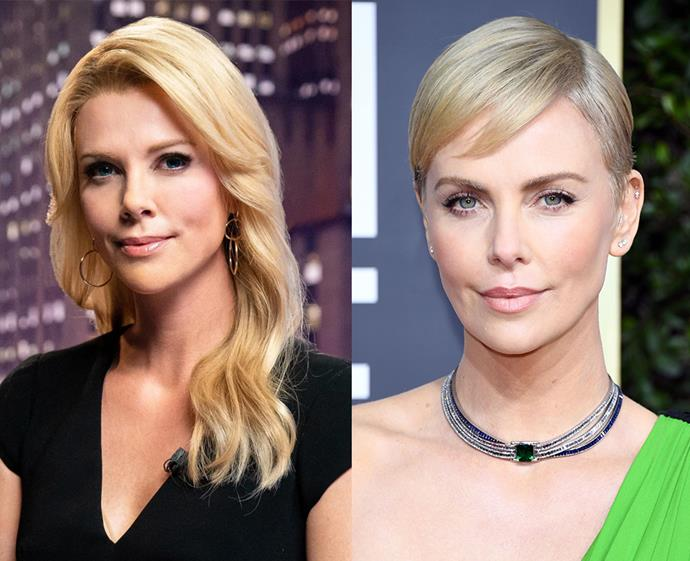 Charlize Theron could pass as the real-life Megyn Kelly, the Fox News anchor who stood up to Donald Trump during a debate and who she portrays in the upcoming film *Bombshell*.