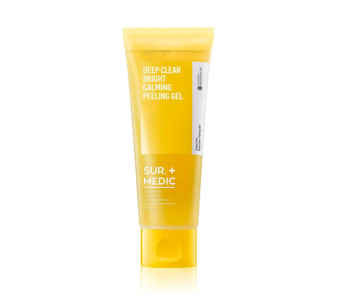 "**If your skin type is: Sensitive<br> Try: Deep Clear Bright Calming Peeling Gel by Sur. Medic, $32 at [Nudie Glow](https://nudieglow.com/collections/exfoliators/products/sur-medic-deep-clear-bright-calming-peeling-gel|target=""_blank"")**<br> Anyone with sensitive skin knows: exfoliation can be *tricky* territory. Manual exfoliants are out of the question and the ingredients commonly relied upon in chemical formulas (think AHAs and BHAs) can still be too intense. PHAs (Poly Hydroxy Acids) are your sensitivity secret weapon, able to smooth skin texture and slough away dead cells without triggering irritation.<br><br> This guy is formulated with Bio Honey Acids, a natural PHA that removes impurities, hydrates and soothes in one go, but calming centella is there to ensure flare ups *definitely* aren't in your face's future. Massage onto a dry face, rinse off with warm water, then revel in the lack of redness."
