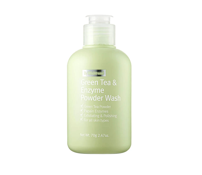 "**If your skin type is: Oily<br> Try: Green Tea & Enzyme Powder Wash by By Wishtrend, $39 at [Nudie Glow](https://nudieglow.com/collections/exfoliators/products/by-wishtrend-green-tea-enzyme-powder-wash|target=""_blank"")**<br> There's one word to keep top of mind when shopping for an exfoliator to aid oil levels: balance. Logic may tell you the goal should be to absorb as much oil as humanly possible, but science says different; if oily skin is dried out, it will only work overtime to create *more* oil, taking you directly back to square one.<br><br> A powder (like this one, packed with calming green tea and exfoliating papaya extract) is perfect, as it holds the power to melt away oil and impurities while maintaining enough hydration to ensure the balancing act stays in tact. Just mix with warm water and get to work."