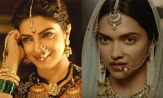 "***Bajirao Mastani* (2015)** <br><br> If you think Hollywood epic films go big, then Bollywood ones go twice as big. 2015's *Bajiro Mastani* starred Bollywood heavyweights [Priyanka Chopra](https://www.elle.com.au/celebrity/priyanka-chopra-nick-jonas-anniversary-present-mariah-carey-20587|target=""_blank"") and Deepika Padukone (both of whom have made waves in Hollywood, too), and it'll take us a minute to get over the sheer intricacy of these beauty and hair looks."