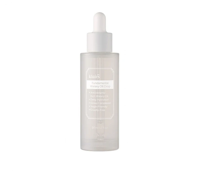 "**Fundamental Watery Oil Drop by Klairs, $49 at [Boniik](https://boniik.com.au/collections/facial-oil-and-balm/products/klairs-fundamental-watery-oil-drop|target=""_blank"")**<br> Fundamental is right; a few drops of this glow-booster and you won't be able to imagine your routine without it."