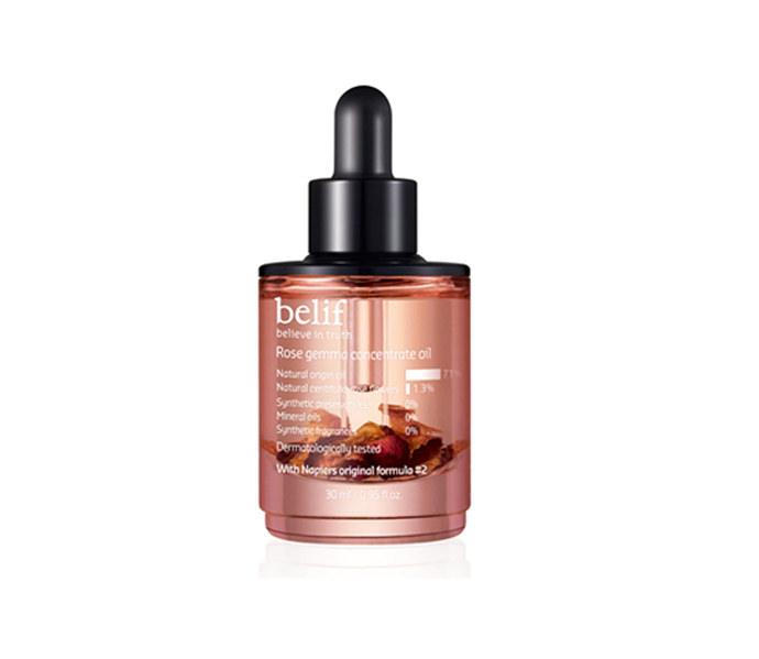 "**Rose Gemma Concentrate Oil by Belif, $84.70 at [My K Beauty](https://www.mykbeauty.com/shop/belif-rose-gemma-concentrate-oil-30ml/|target=""_blank"")**<br> You'll come for the subtle rose scent, but you'll stay for the impressive redness relief."