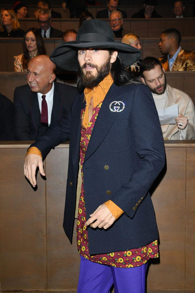 Jared Leto at Gucci.