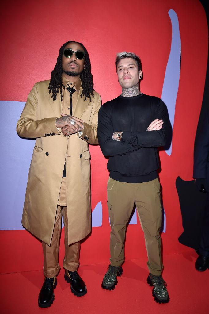 Quavo and Fedez at Prada.